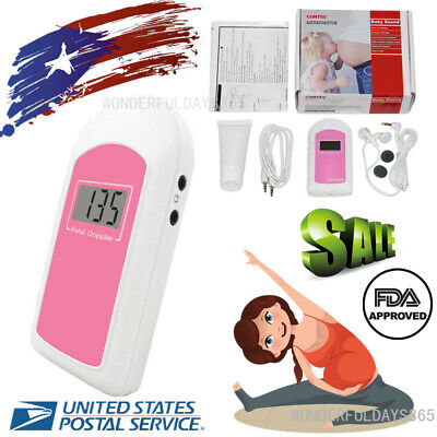 Fda Us Pregnancy Baby Fetus Heart Rate Monitor Fetal Doppler Recorder Soundgel