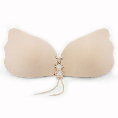Silicone Push-Up Strapless Backless Self-Adhesive Gel Magic Stick Invisible Bra