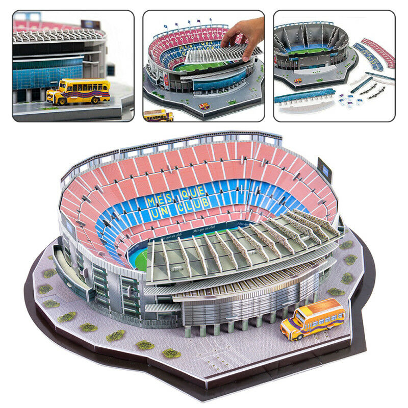 Details About Barcelona Camp Nou Stadium 3d Puzzle Football Club Jigsaw Model Spain Boxed