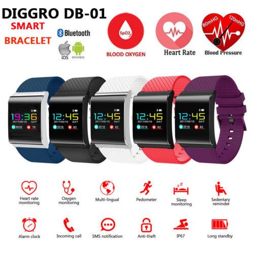 $28.99 - Bluetooth Smart Bracelet Watch Heart Rate Blood Pressure Oxygen Fitness Tracker