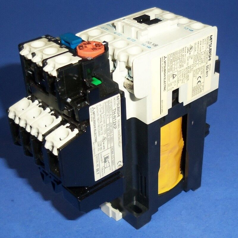 MITSUBISHI ELECTRIC 24VDC COIL MAGNETIC CONTACTOR W/ OVERLOAD RELAY SD-N11