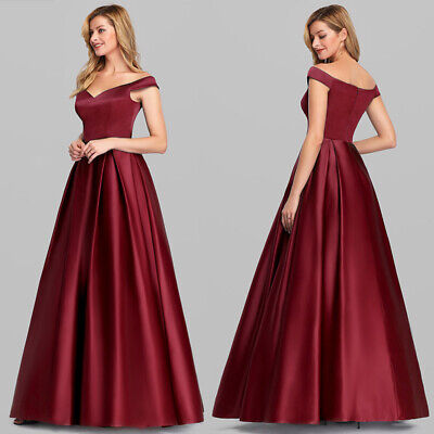 US EverPretty ALine Off Shoulder Evening Cocktail Prom Dresses Ball Gowns 7934
