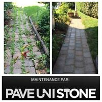 HIGH PRESSURE CLEANING OF DRIVEWAYS & UNISTONE & CONCRETE