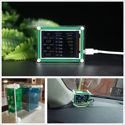 "5V 2.8"" LCD Digital Home Car PM2.5 Detector Tester Meter Air Quality AQI Monitor"