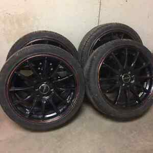 Street Gear Wheels with new Joyroad 205/R40XL performance tires Regina Regina Area image 1