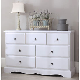 Bedroom Furniture Direct Romance True White Large Chest of Drawers