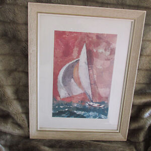 VINTAGE, RARE ORIGINAL PAINTING BY E. FRED ANDERSON