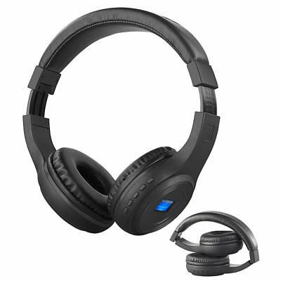 auvisio Faltbares Over-Ear-Headset mit Bluetooth, MP3-Player, FM & LCD-Display Over-ear-headset