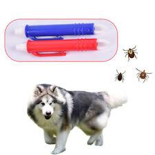 Plastic Pet Dog Cat Tick Remover Pen Tweezers Tool Flea