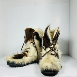 NAP GIGNAC - bottes quebecoise - REAL FUR - men size 7