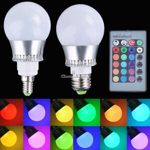 rgb led magic lighting light bulb with 7 different colors and 5 modes remote ebay. Black Bedroom Furniture Sets. Home Design Ideas
