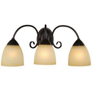 Oil rubbed bronze chandelier ebay for Bathroom vanity light fixtures oil rubbed bronze