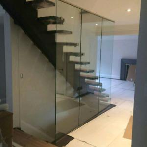 Exterior & railing glass system