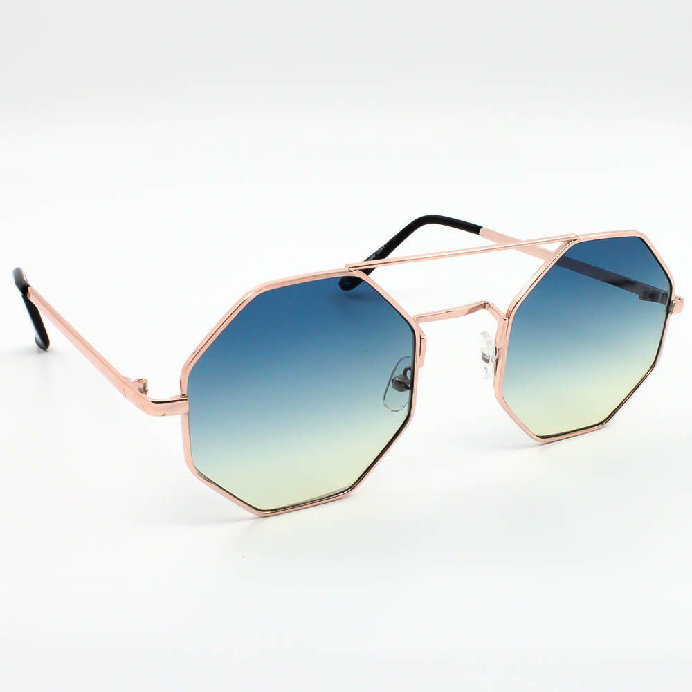 668e9c664a0 Fashion Women Oversized Metal Frame Octagon Sunglasses Ladies Pink Lens