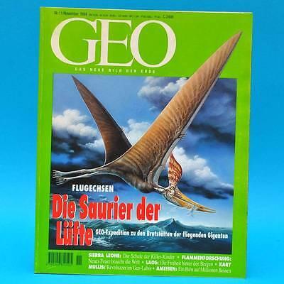 GEO Magazin 11/1994 Flugechsen Kindersoldaten Irland Ameisen Kary Mullis Laos