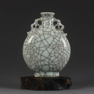 China Old Antique Jingdezhen Qing Guan Kiln Crack Porcelain Vases Ebay