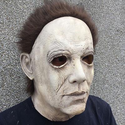 Michael Myers Halloween-kostüme (Horror Michael Myers grusel Maske Latex Karneval Kostüm Halloween Verkleidung)