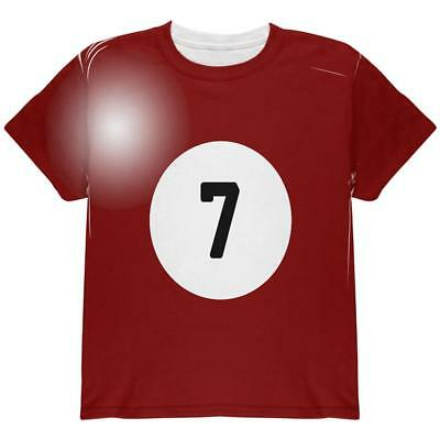 Halloween Billiard Pool Ball Seven Costume Youth T Shirt - Pool Halloween
