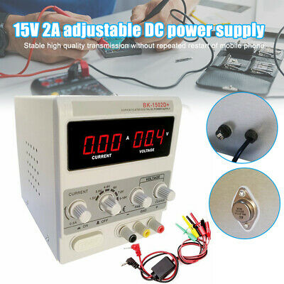 15v 2a Dc Power Supply Precision Variable Dual Digital Lab Test Adjustable Us