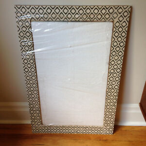 FABULOUS BLACK AND WHITE INLAY MIRROR!!!!