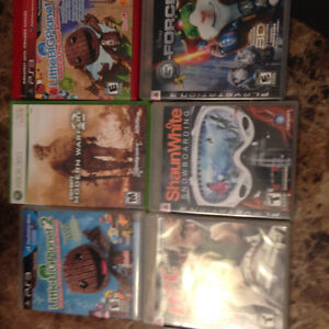 5 PS3 games and 1 Xbox game