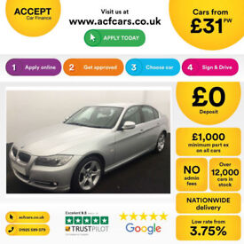 Silver BMW 318 2.0 i 2010 Exclusive Edition FROM £31 PER WEEK!