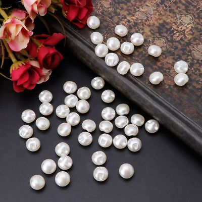 50pcs Round Sewing Pearl Buttons For Clothing Sewing Scrapbooking Craft (Craft Buttons)