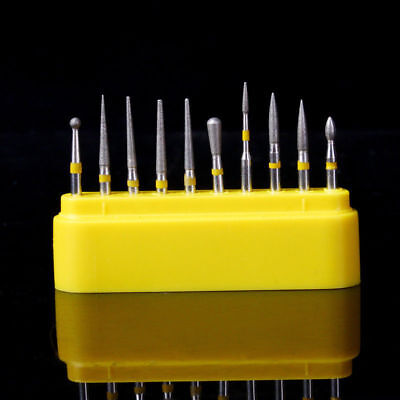 Dental Diamond Fg Burs Kit Creamicscomposite Polishing 10 Pcsbox