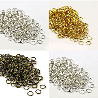 Gold /& Silver Plated Open Metal Jump Rings Findings Diy For JEWELRY Making