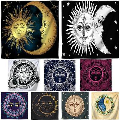 Bohemian Sun and Moon Tapestry Hippie Wall Hanging Room Bedspread Mat Home - Sun And Moon Decor