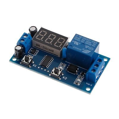 New Dc 12v Digital Display Trigger Cycle Time Delay Relay Module Board