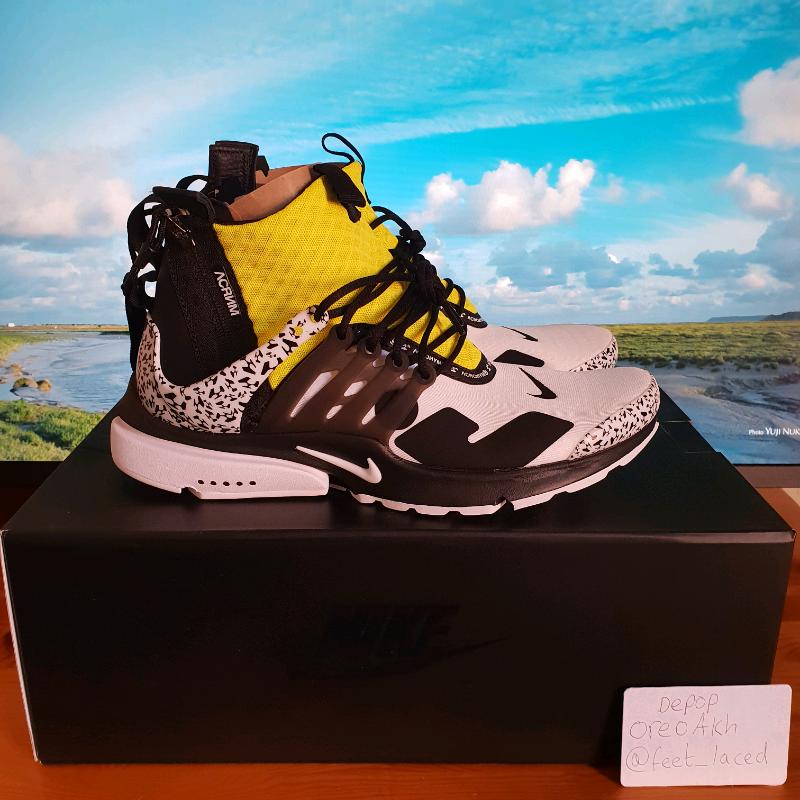 28914d3cce8d Nike Presto x Acronyms white yellow size UK 8