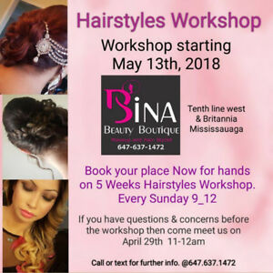 hairstyle workshop - starting may 13th - limited space