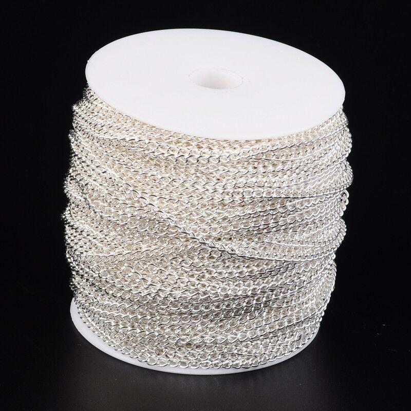 400cm Gliederkette 5x3x0.8mm Eisenkette Kette Silber Schmuckherstellung
