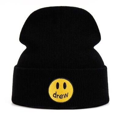 Black Drew Justin Bieber Beanie Hat - Brand New - Ships from UK!