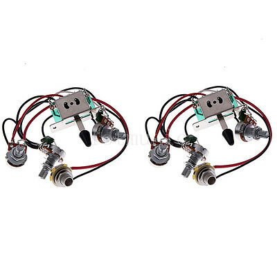 electric guitar wiring harness kit 3 way toggle switch 1 volume 1 usd 9 89