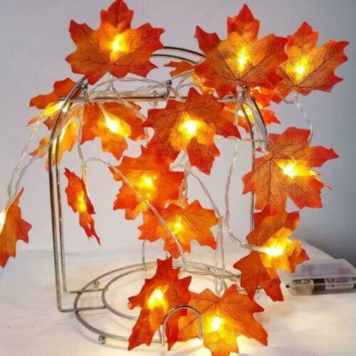 10//20//50 LED Maple Lights Leaves Garland Fairy String Christmas Decor Xmas Tree