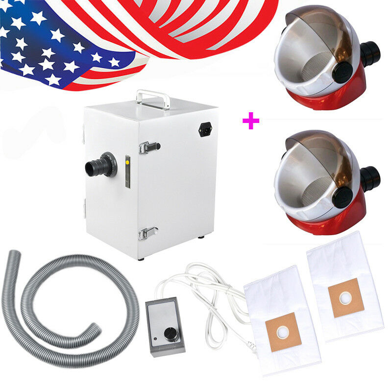 Dental industry Digital Single-Row Dust Collector Vacuum Cleaner 2x Suction Base