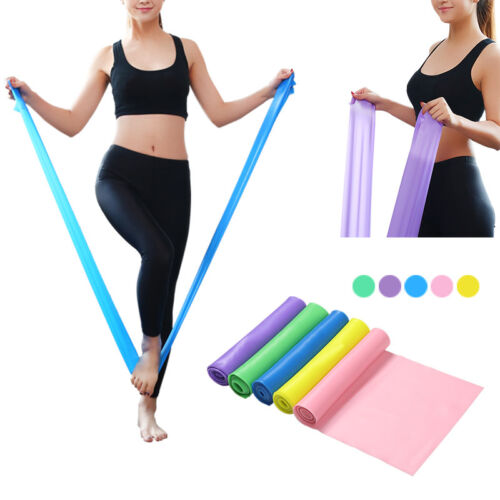 DE Athletiktraining Training Latex Fitnessband Expander Gymnastikband Gummiband