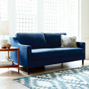 "West Elm - Paidge Sofa Couch (72.5"") Ink Blue - Like new!!!"