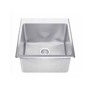 Kindred QSLF2020/12 20 x 20 Single Bowl Dual Mount Sink 1 Hole