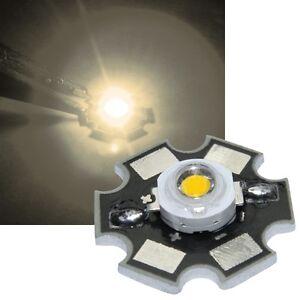 1x HighPower Led 1 Watt auf Star Platine 350mA 1 W Hochleistungs Chip High-Power