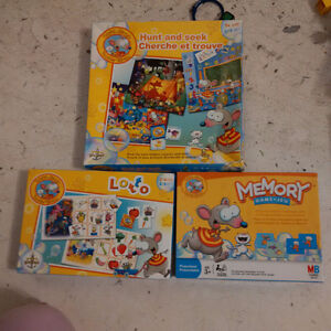 Lot of 3 - Toopy and Binoo Board Games