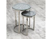Bia Crushed Nest Of 2 Tables BRAND NEW