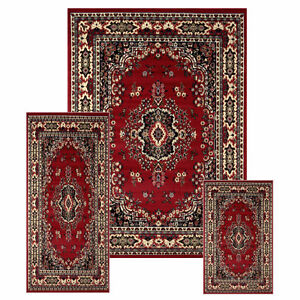 3 Pc Traditional Beautiful Persian Rug Set BRAND NEW FROM TURKEY