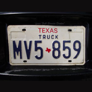 Texas United States Licence Plate