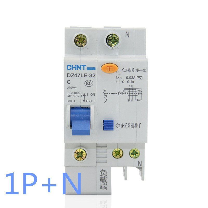6Amp 30mA 1Pole RCD/RCCB  Residual Current  Circuit Breaker CHINT DZ47LE-32