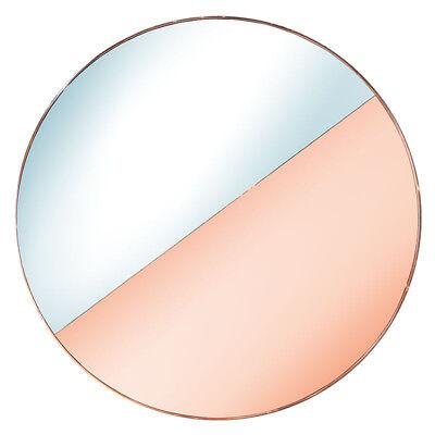 Custom Half Silver Half Apricot Round Mirror with Copper (Round Copper Framed Mirror)