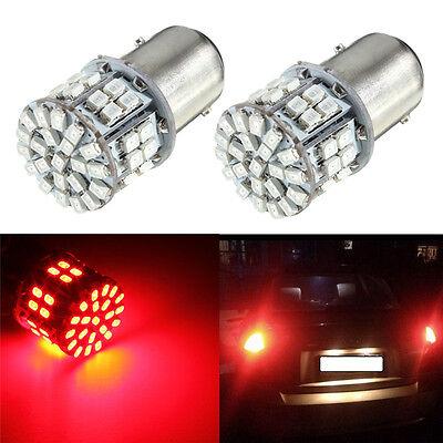 2 x 1157 BAY15D 50 SMD 1206 LED Red Light Car Tail Stop Brake Lamp Bulb 3W 12V