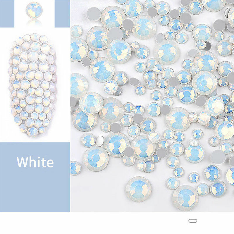 1 Bag White Opal Rhinestones